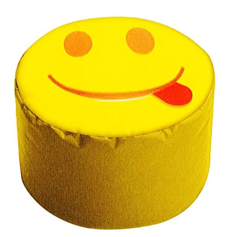 Sitzhocker - DotCom - SMILE/Zunge, Gelb ca. 50 x 30 cm