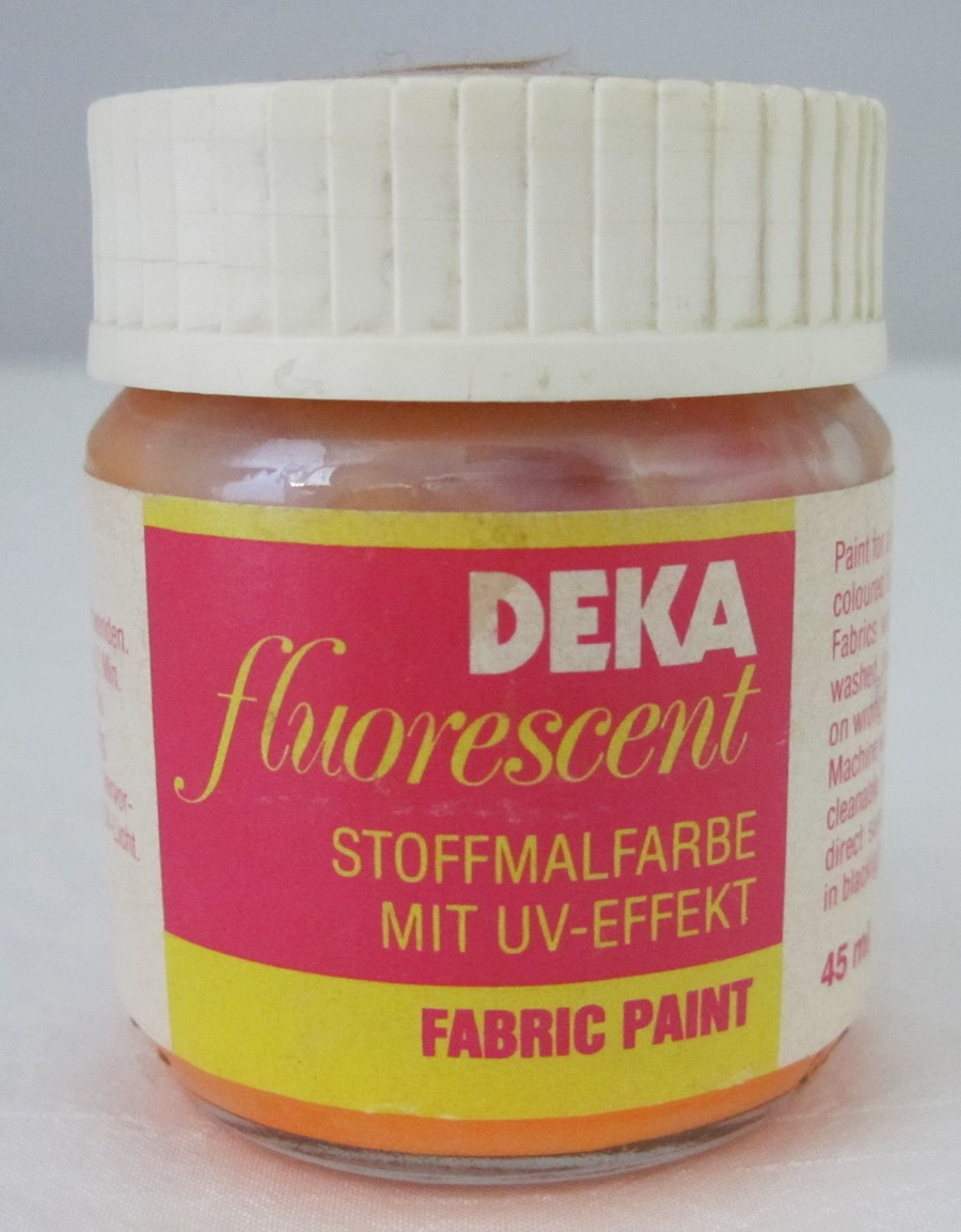 Stoffmalfarbe mit UV-Effekt Neon-orange fluorescent Deka 45 ml