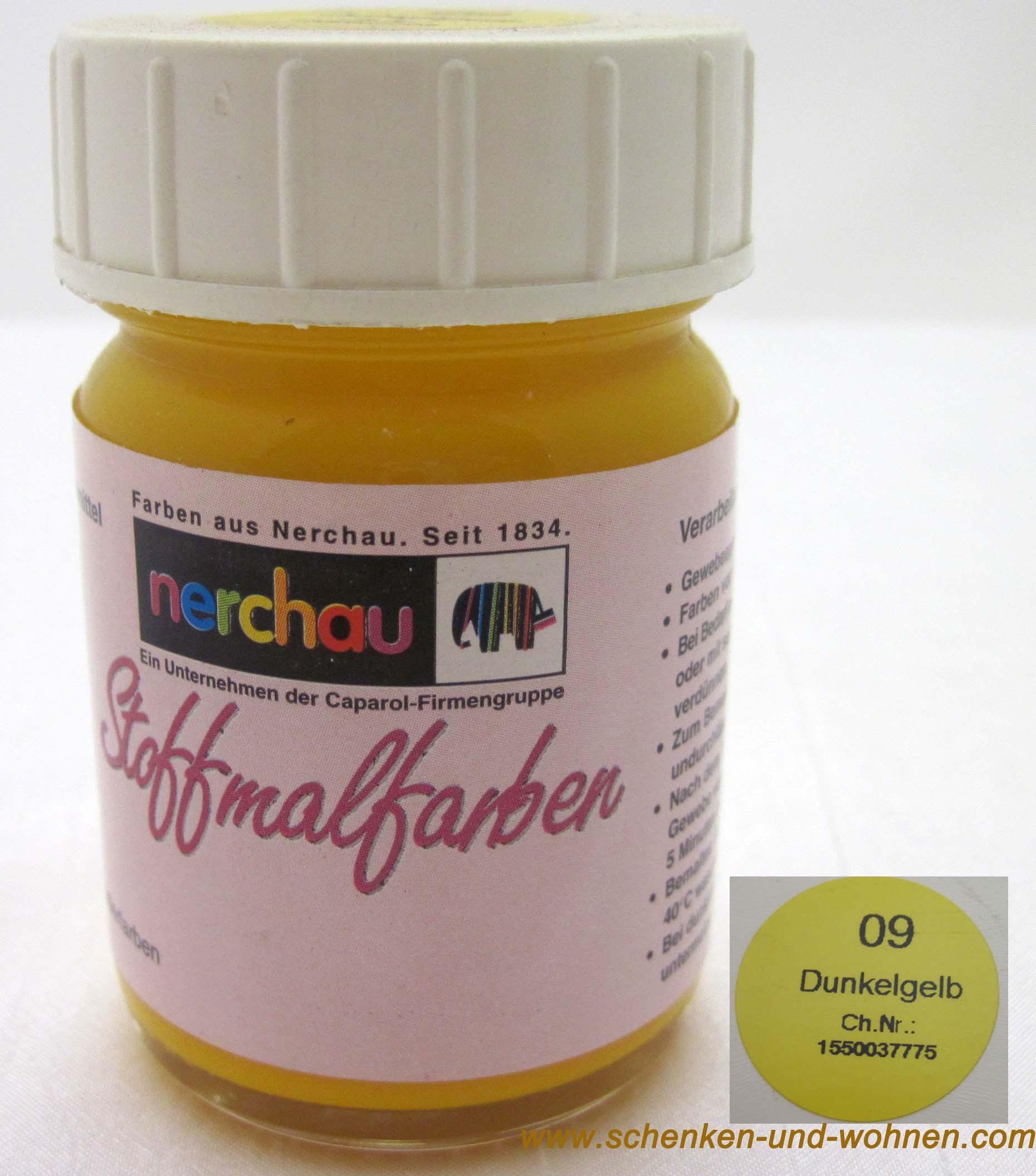 Stoffmalfarbe Nerchau 50 ml Dunkelgelb 09