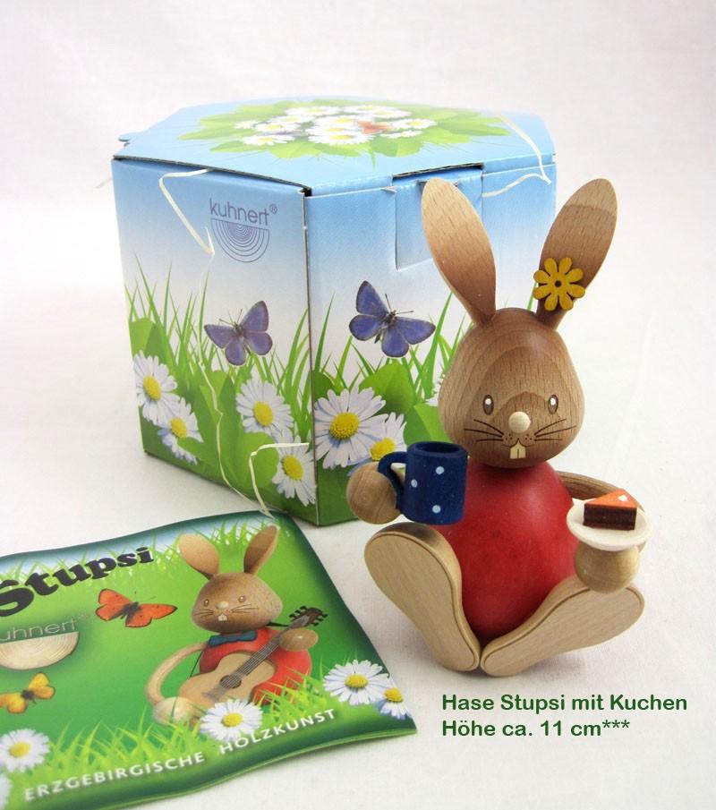 Kuhnert Stupsi Hase mit Kuchen ca. 11 cm