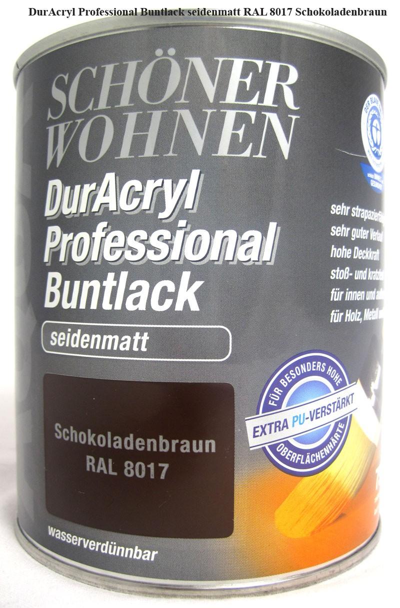 DurAcryl Buntlack-Acrylat,seidenmatt,RAL8017 Schokoladenbraun,750ml