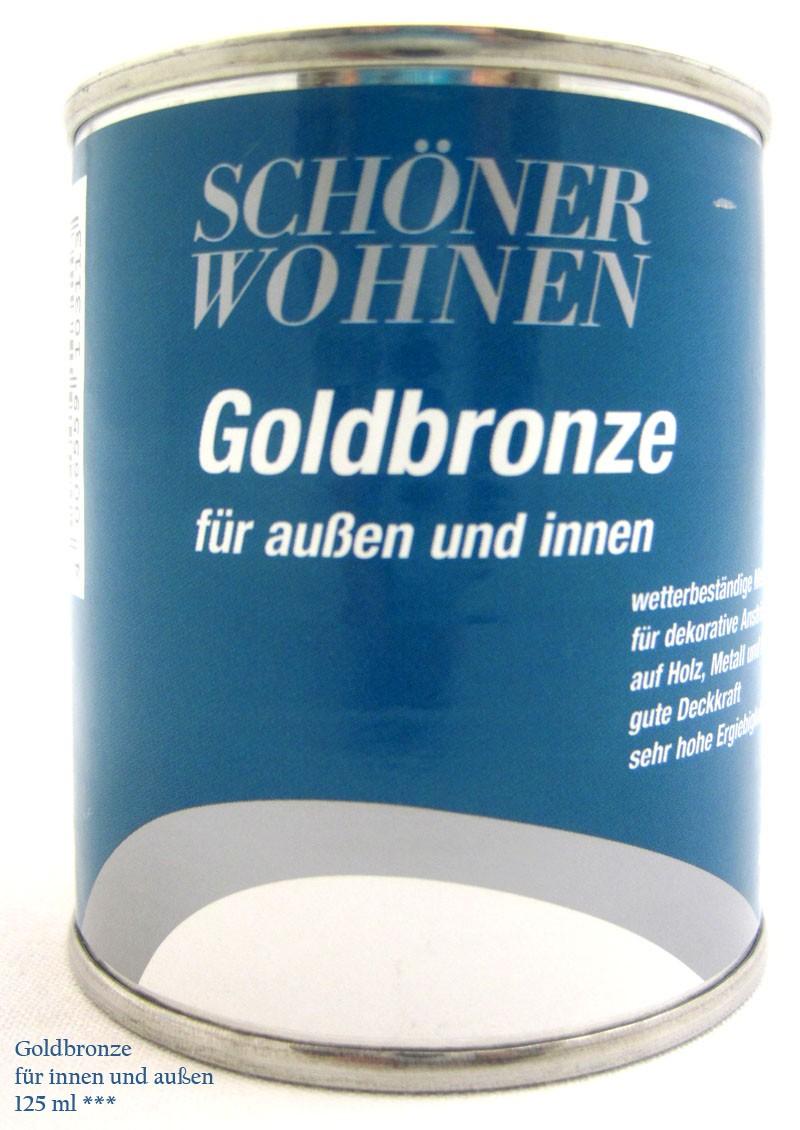 Goldbronze für außen und innen - Siliconharzlack 125ml