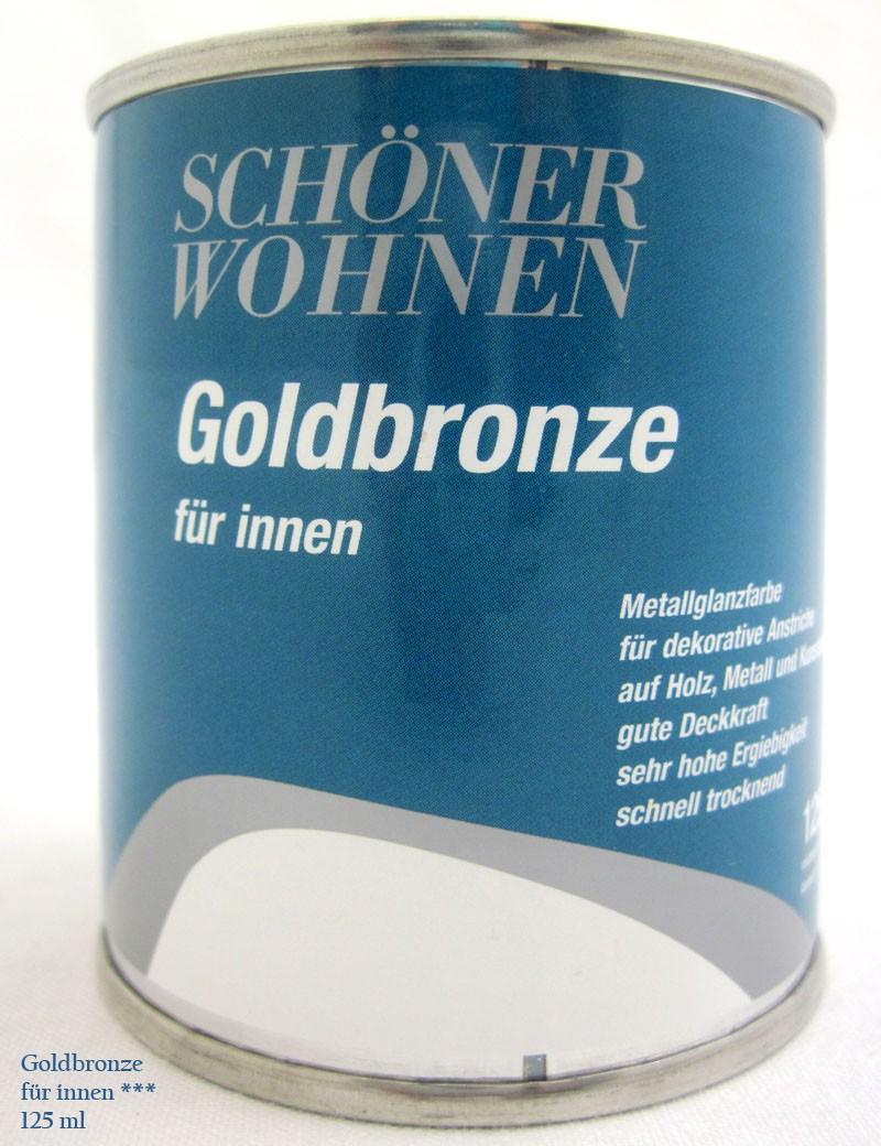 Goldbronze für innen - Siliconharzlack,125 ml,goldbronze,Schöner Wohnen