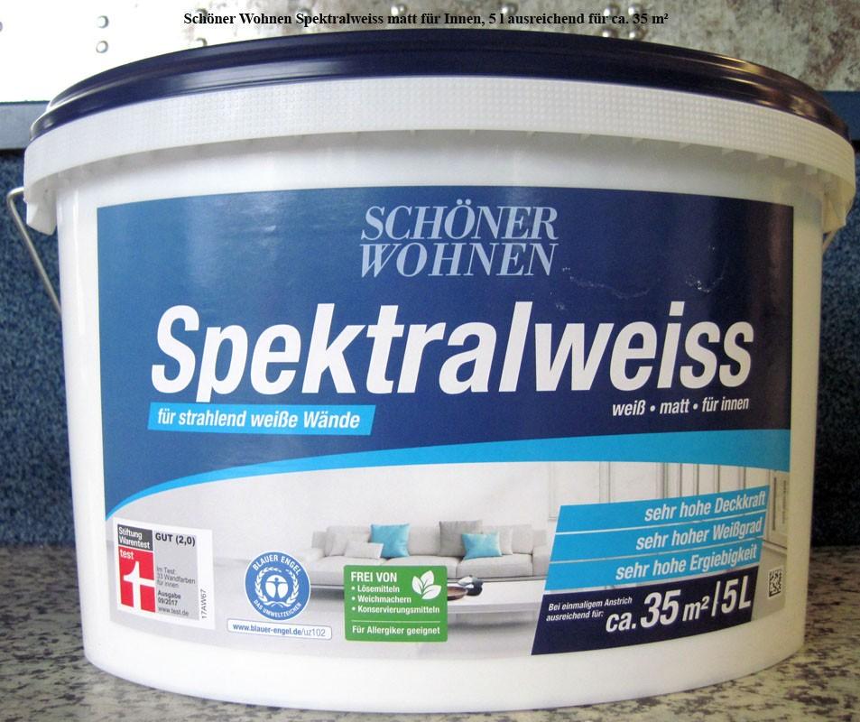 Schöner Wohnen Spektralweiss matt für Innen 5 L DIN/Ö-NORM EN 13 300