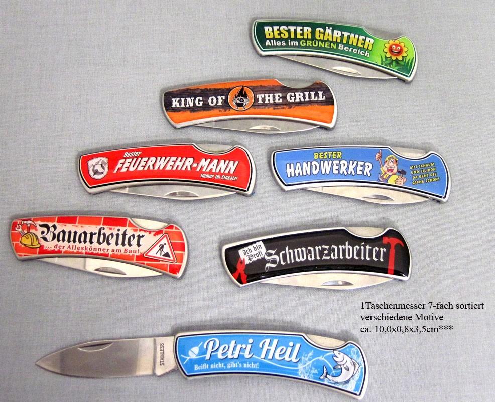 """Taschenmesser mit Spruch """"Bauarbeiter"""" ca. 10,0 x 0,8 x 3,5 cm"""