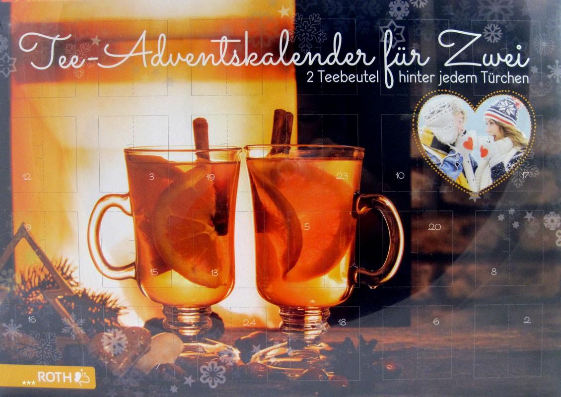Tee - Adventskalender - Für Zwei - 2 Teebeutel hinter jedem Türchen