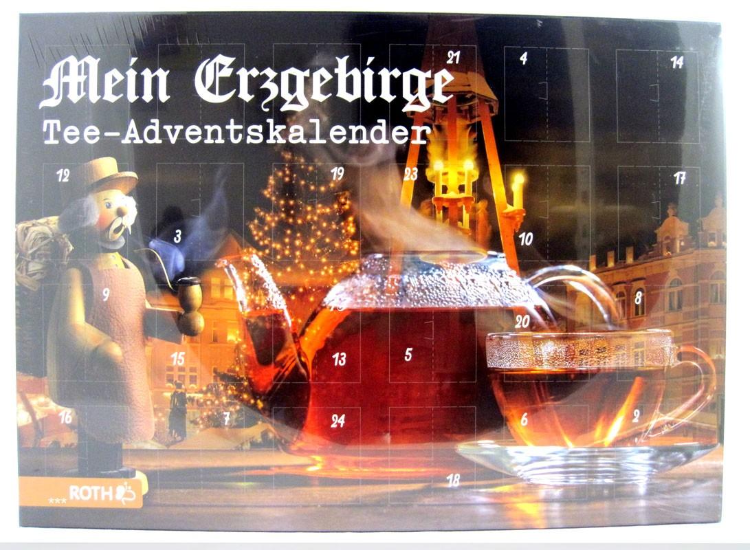Tee - Adventskalender - Mein Erzgebirge - mit 24 Salus Teesorten