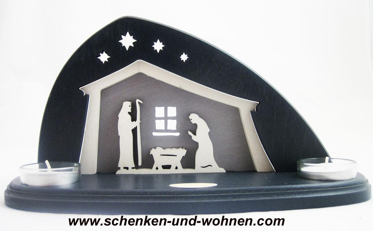 """Teelichthalter """"Bethlehem"""" für 2 Teelichter"""