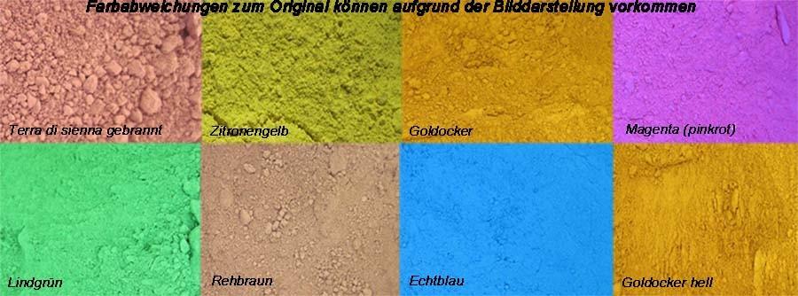 Trockenfarbe Farbpigment 100 g verschiedene Farben