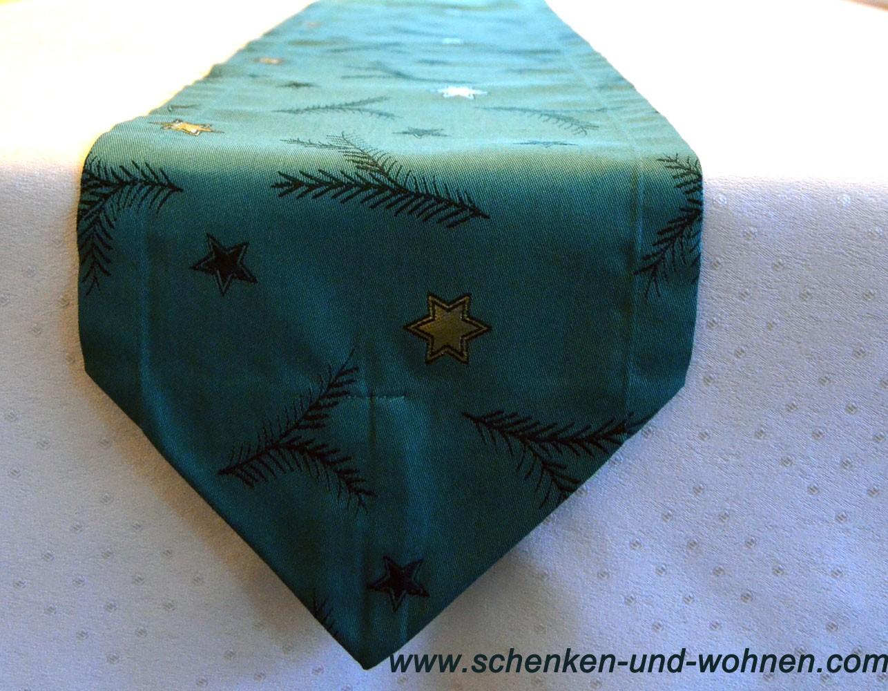 Tischband Weihnachten grün ca.20x160 (BxL)