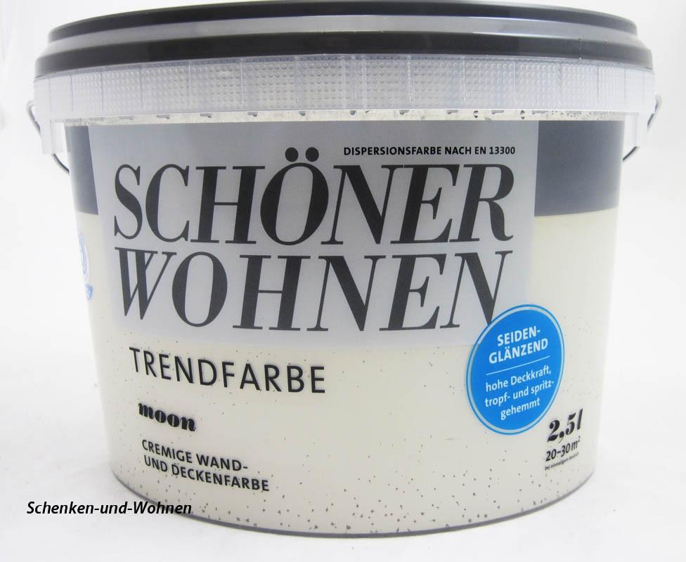 Schöner Wohnen Trendfarbe Moon 2,5 l seidenglänzend Ausverkauft!