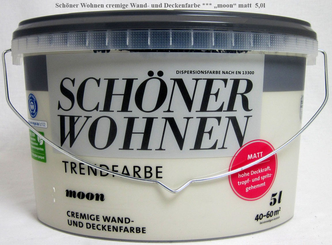 Wand- und Deckenfarbe pearl matt 5,0 l cremige Trendfarbe Schöner Wohnen