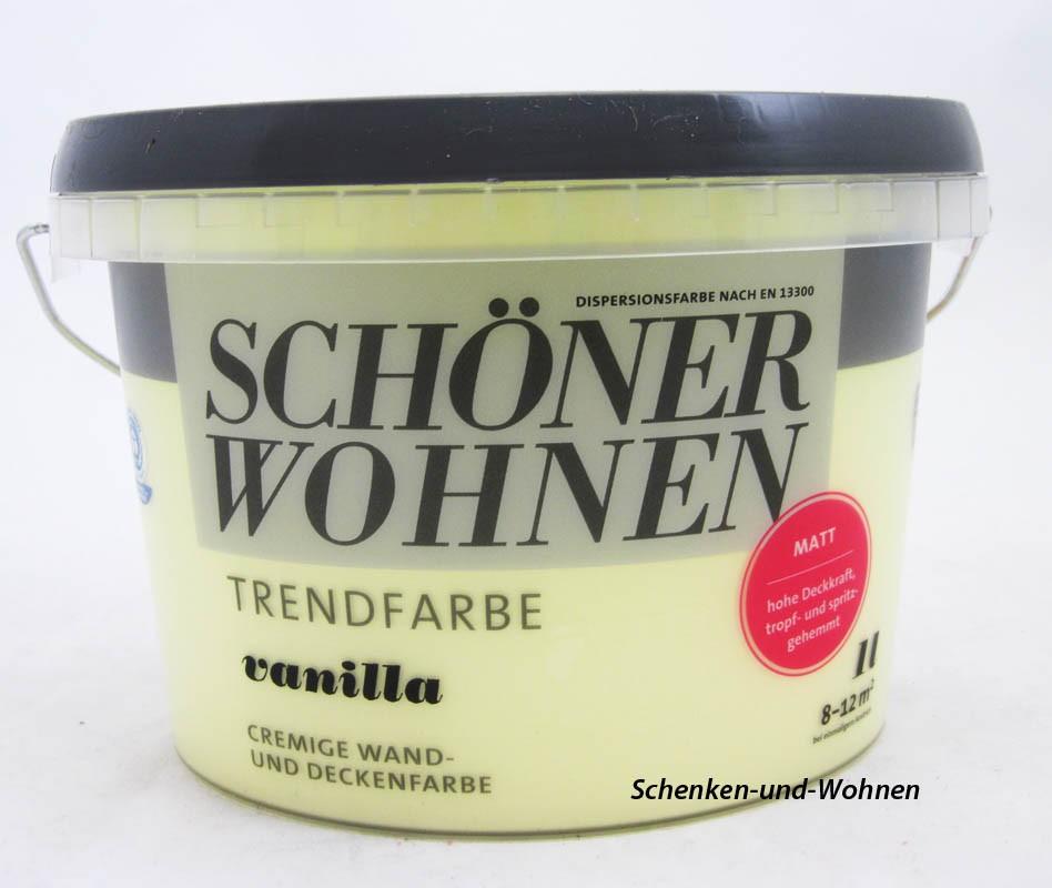 Schöner Wohnen Trendfarben Vanilla matt 1 L- Touch Protect-Ausstattung