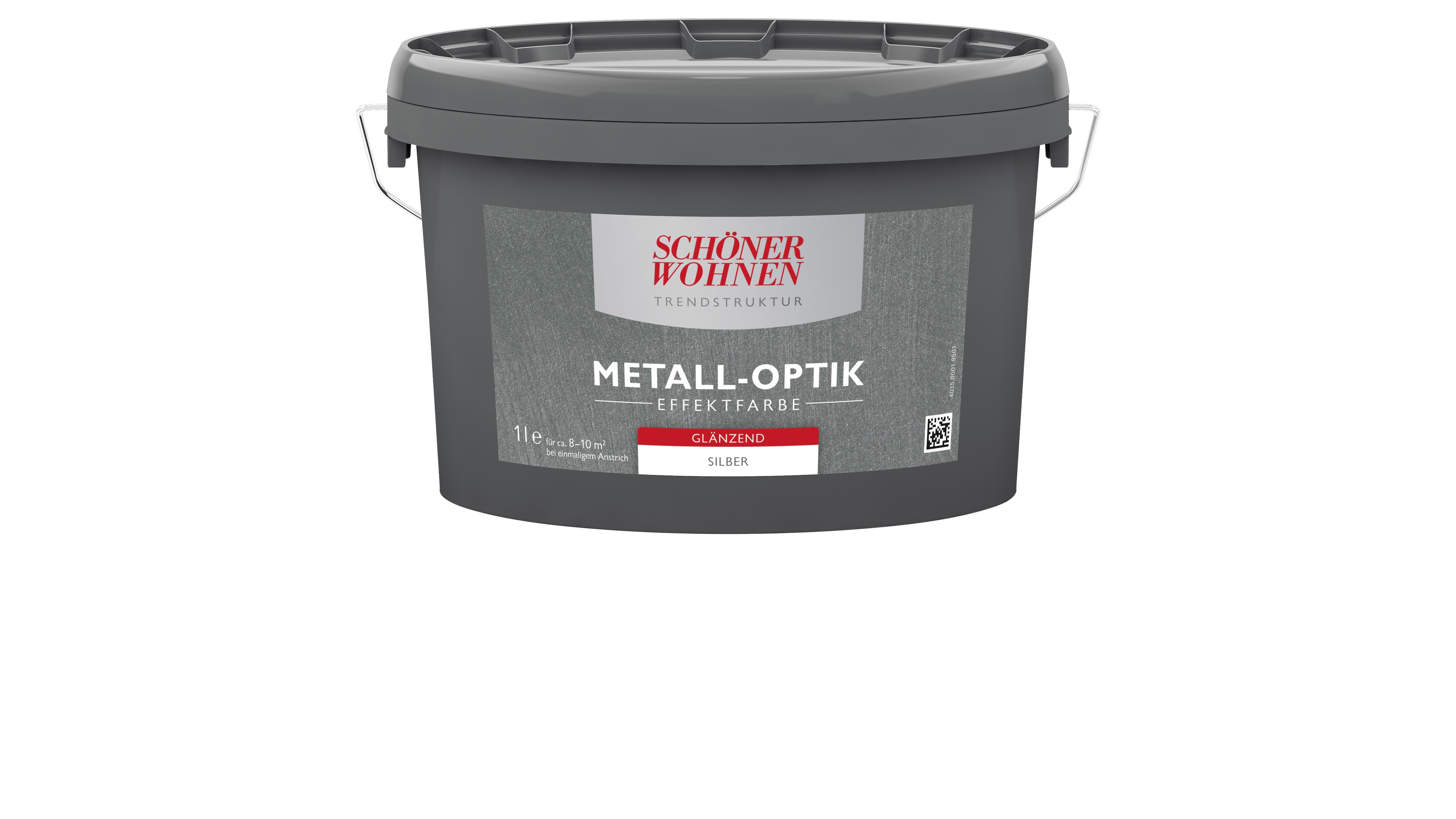 Trendstruktur Metall-Optik glänzend silber 2,5L