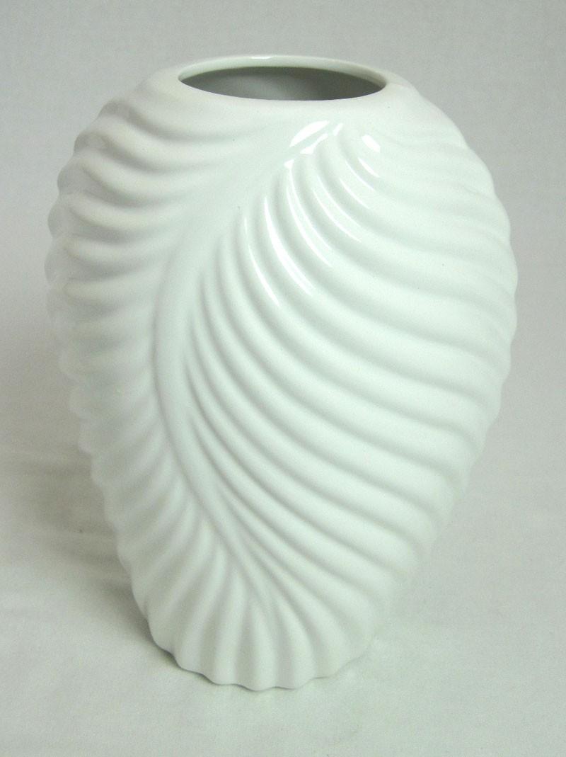 Porzellan-Vase Resia weiß glänzend ca. 20x12x16cm H/T/B