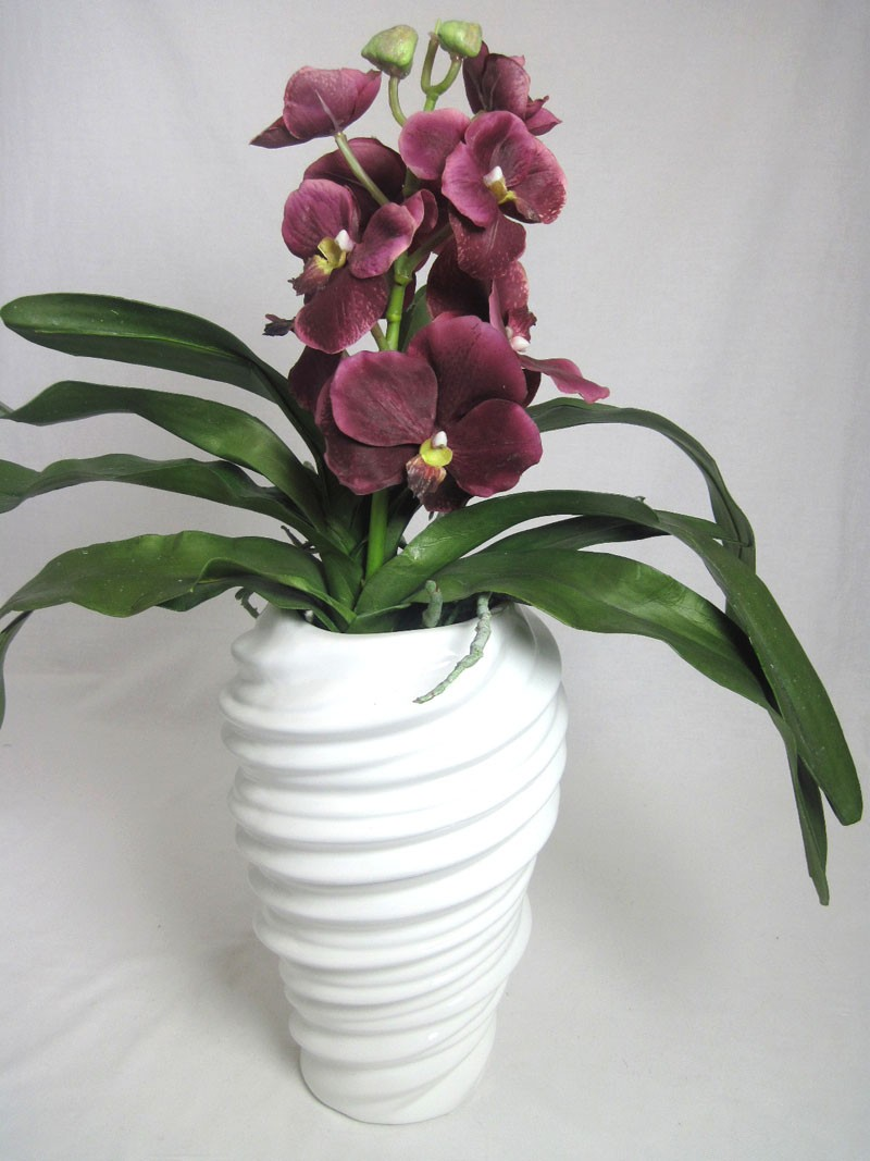 Porzellan-Vase Twist weiß glänzend ca. 27x17x17cm H/T/B