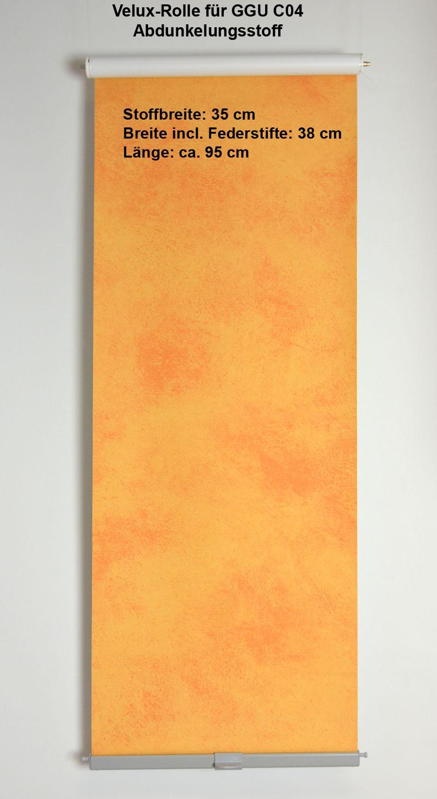 Dachfensterrollo - Abdunklungsstoff GGU-C04 weiß/orange