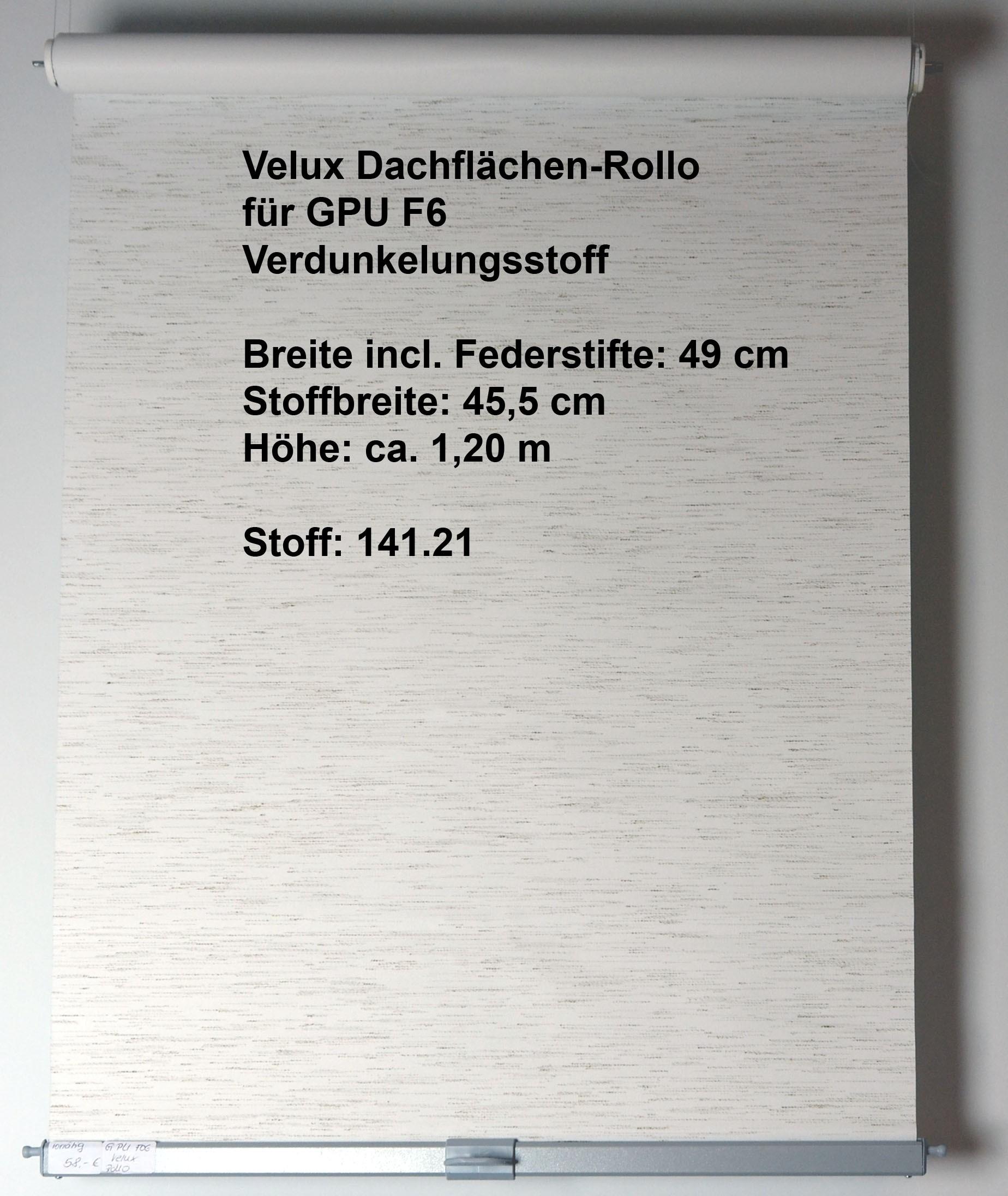 Dachfensterrollo - Abdunklungsstoff für GPU-F06 textil/weiß