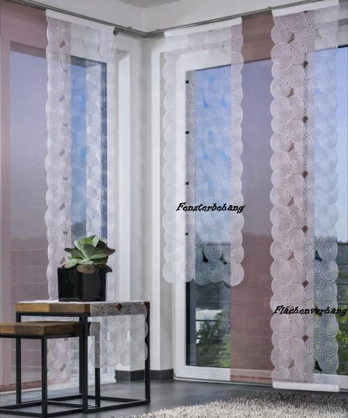 "Fensterbehang ""Boston""- weiß-128 x 45 cm (H/B)"