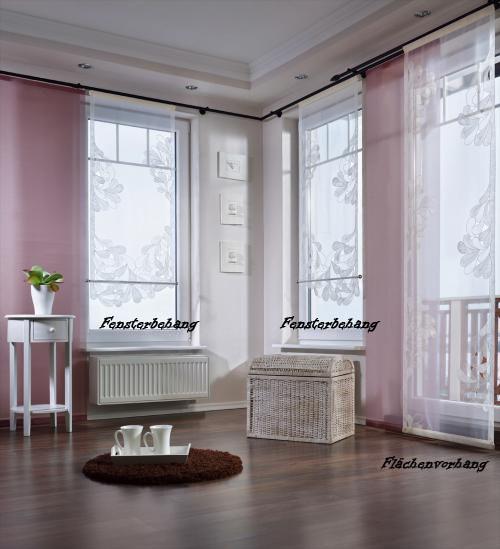 "Fensterbehang ""Sylt"" - weiß-140 x 80 cm (ohne abgebildetes Stangenmaterial)"