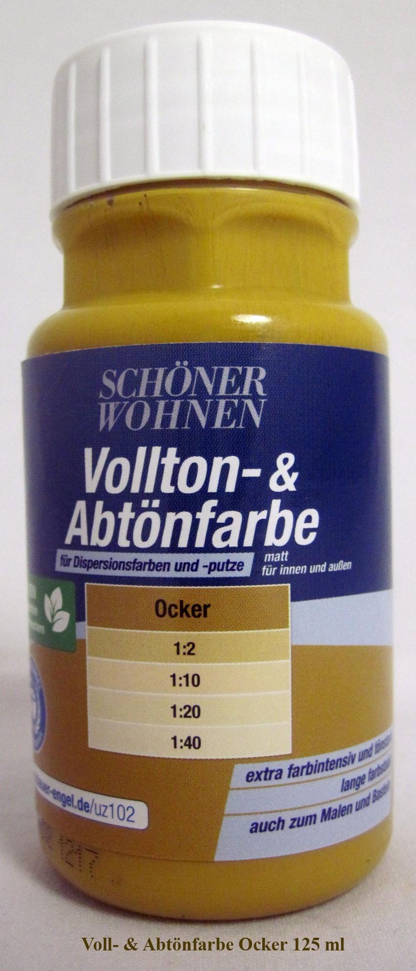 Voll- und Abtönfarbe Ocker 125 ml