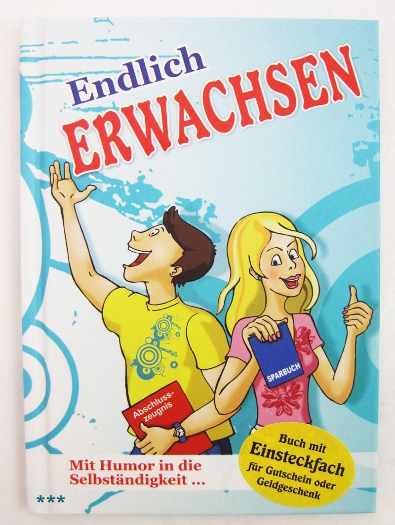 """Kleines Wünschebuch zum Anhängen """"Endlich Erwachsen"""" ca. 10,5 x 14,5 cm"""