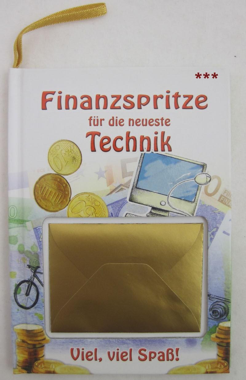 """Kleines Wünschebuch zum Anhängen """"Finanzspritze-Technik"""" ca. 10,5 x 14,5 cm"""