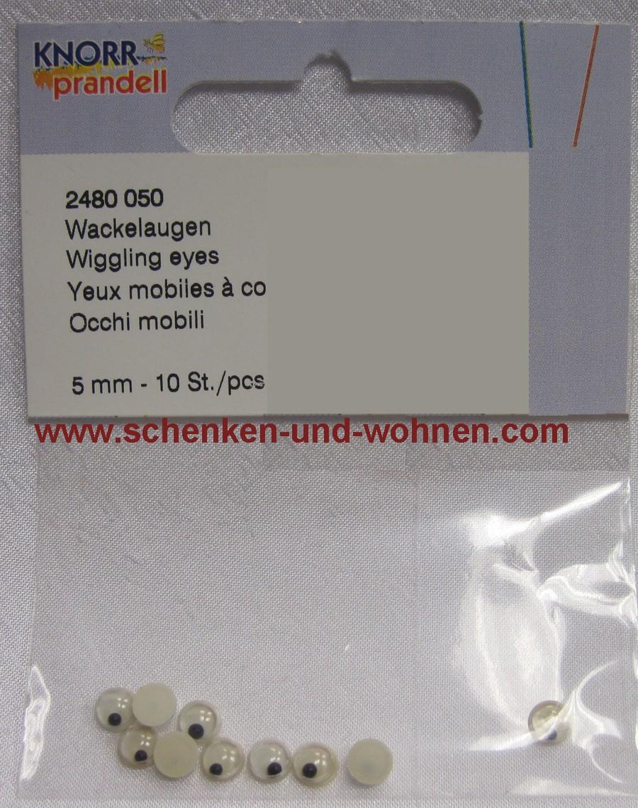 Wackelaugen 10 mm Knorr Prandell 10 Stück
