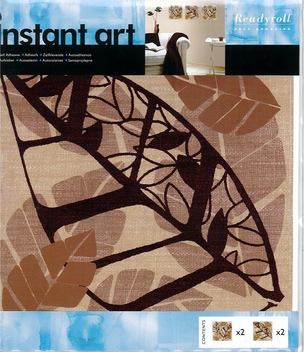 Wandaufkleber 4 Stück Ghana Wandtattoo - Blätter