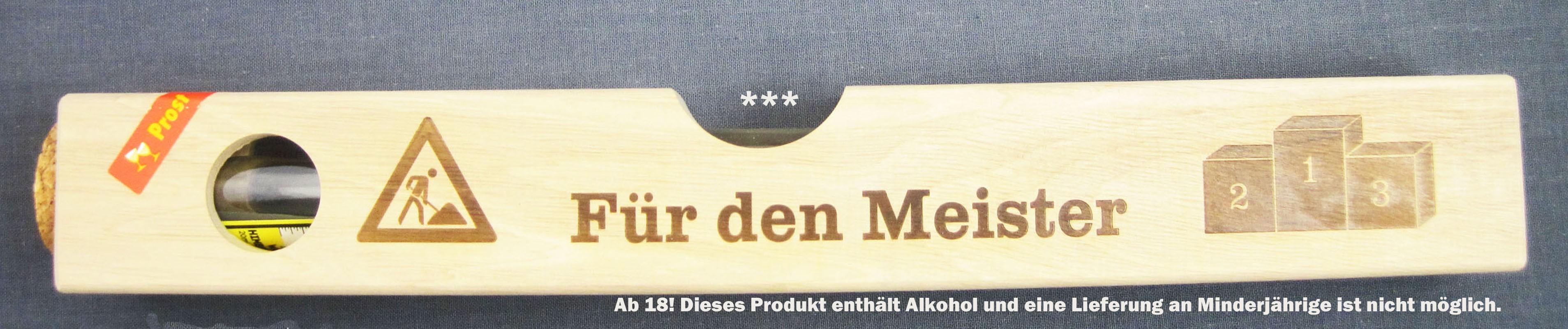 """""""Wasser""""waage Holz groß - Für den Meister 2 x 20 ml"""