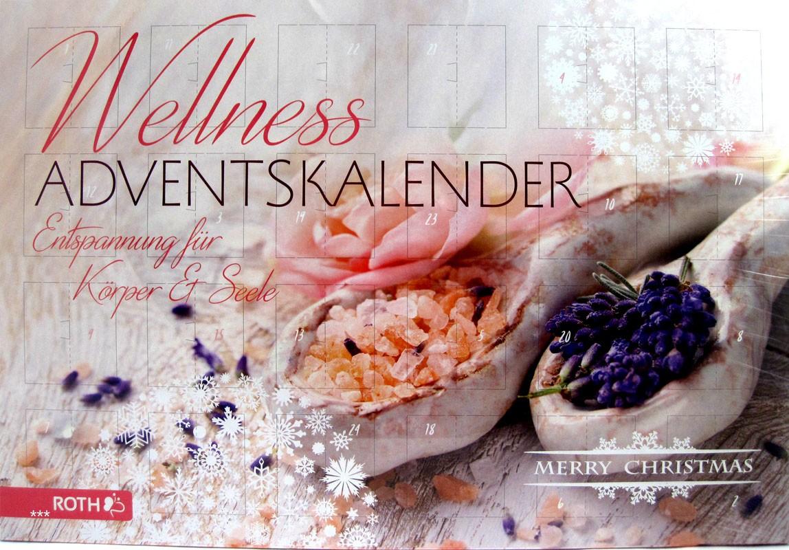 Wellness-Adventskalender ca. 50 x 35 x 4 cm, Entspannung für Körper & Seele
