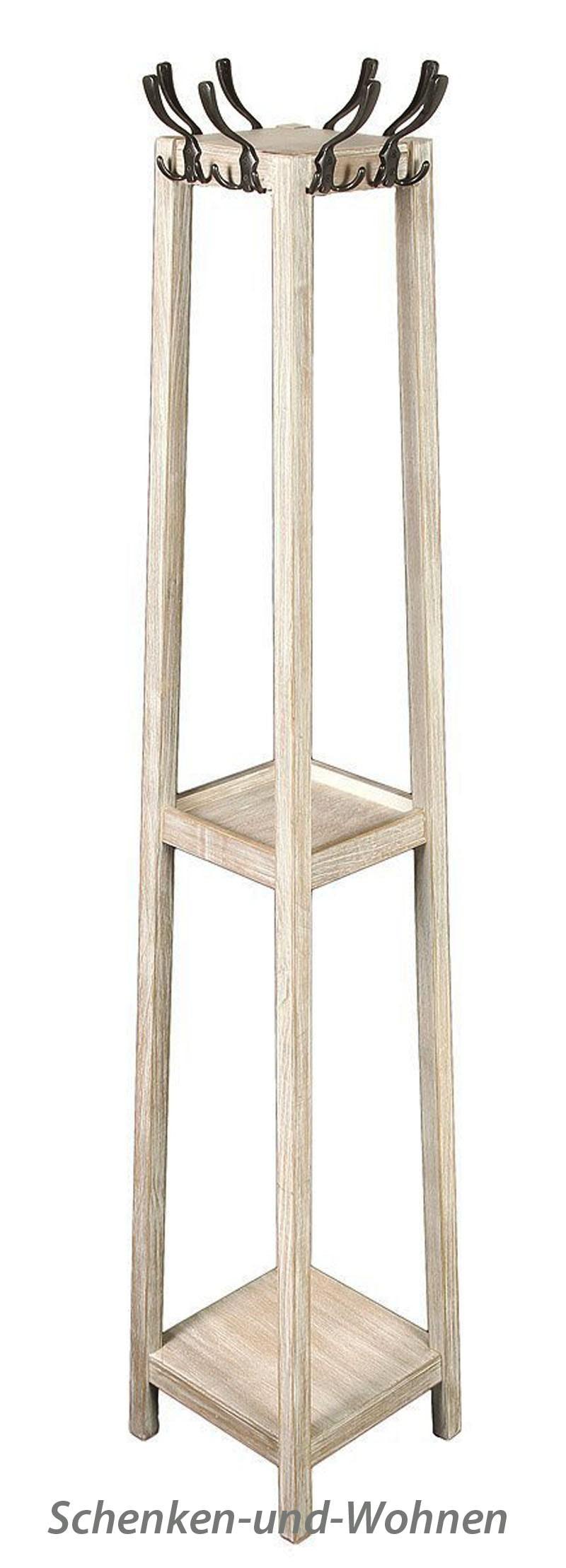 "Rustikale Garderobe ""Windsor"" ca. 178 cm, Hellbraun gewischt"