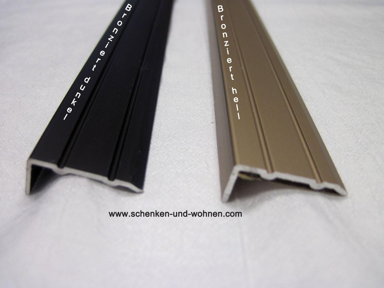 Winkelprofil 1 m sk 10x24,5mm Aluminium Bronze hell