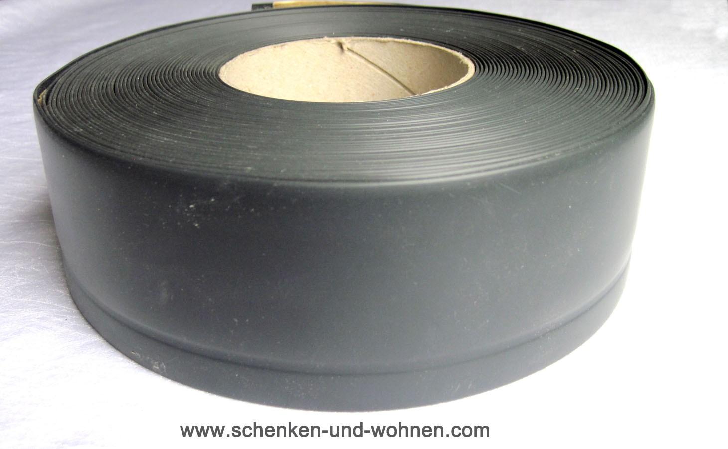 Weichsockelleiste WL50 anthrazit sk 50 x 1 lfdm. Zuschnittmaß