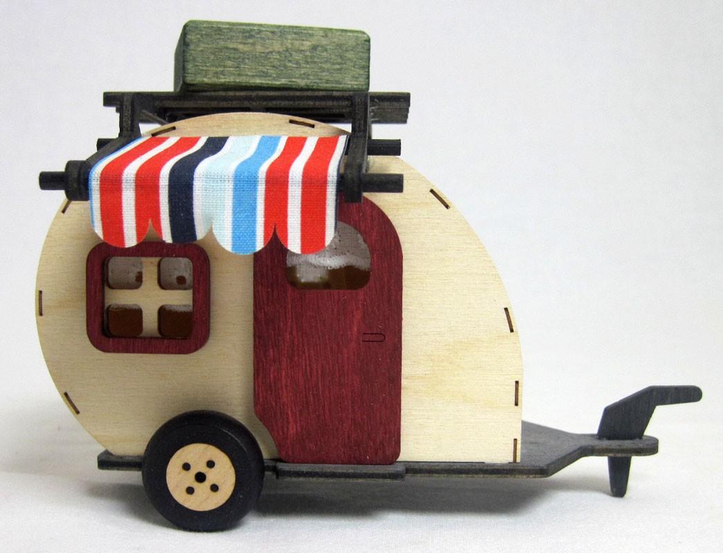 Kuhnert - Mini Eulen Wohnwagen ca. 10 cm hoch
