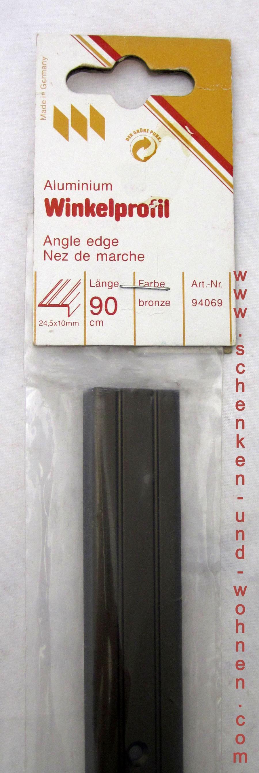 Winkelprofill Bodenprofil bronze dunkel 24,5x10x90 cm