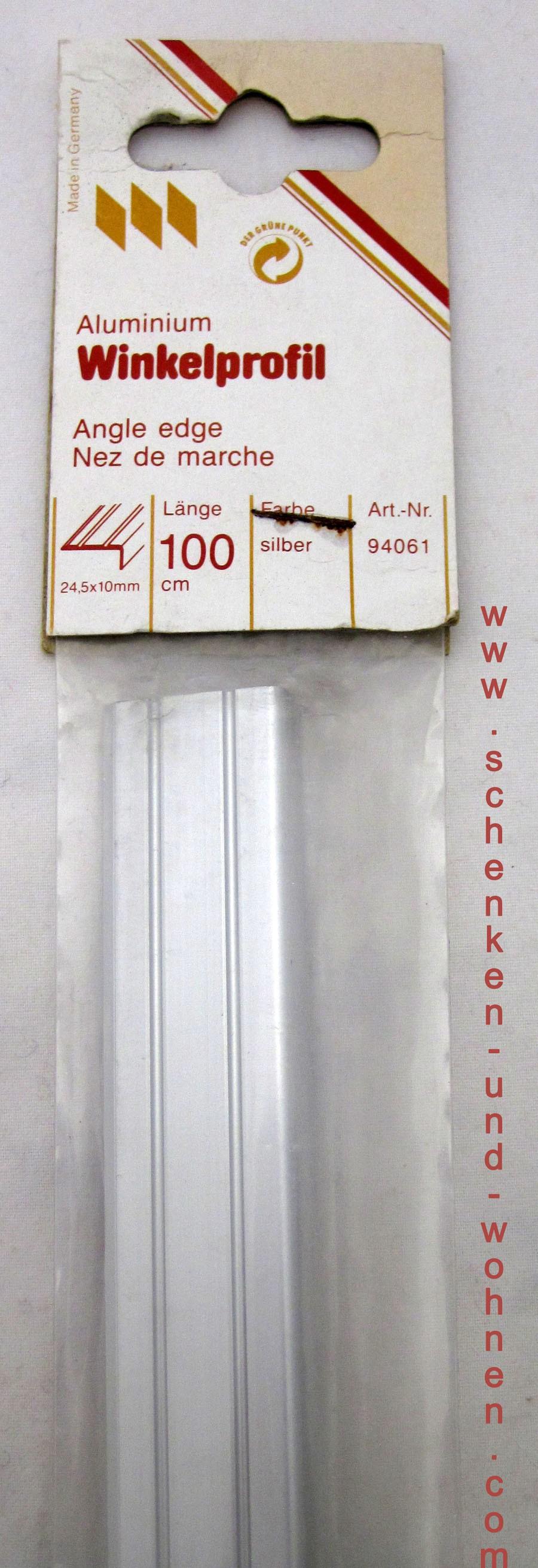 Winkelprofill Bodenprofil silber 24,5x10x100 cm