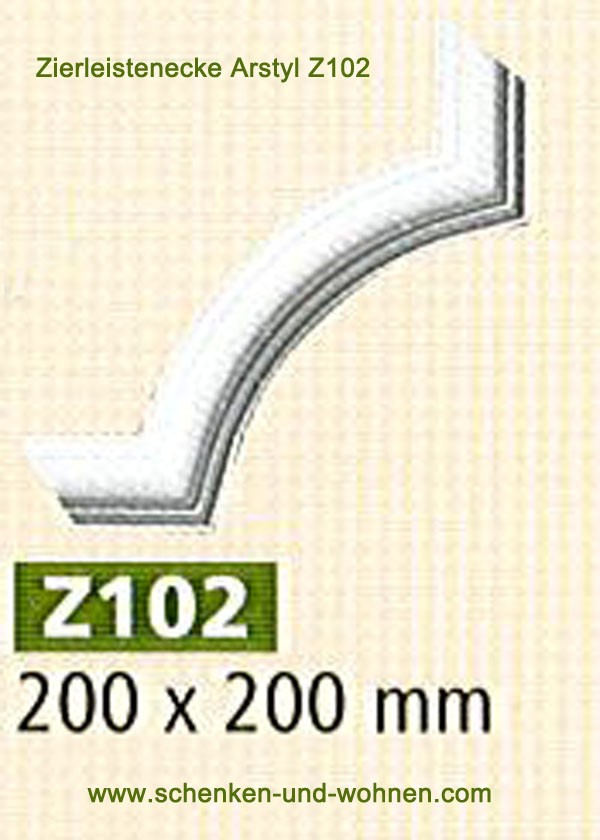 Ziereckprofil Z102 Set á 4 Stück 200x200 mm