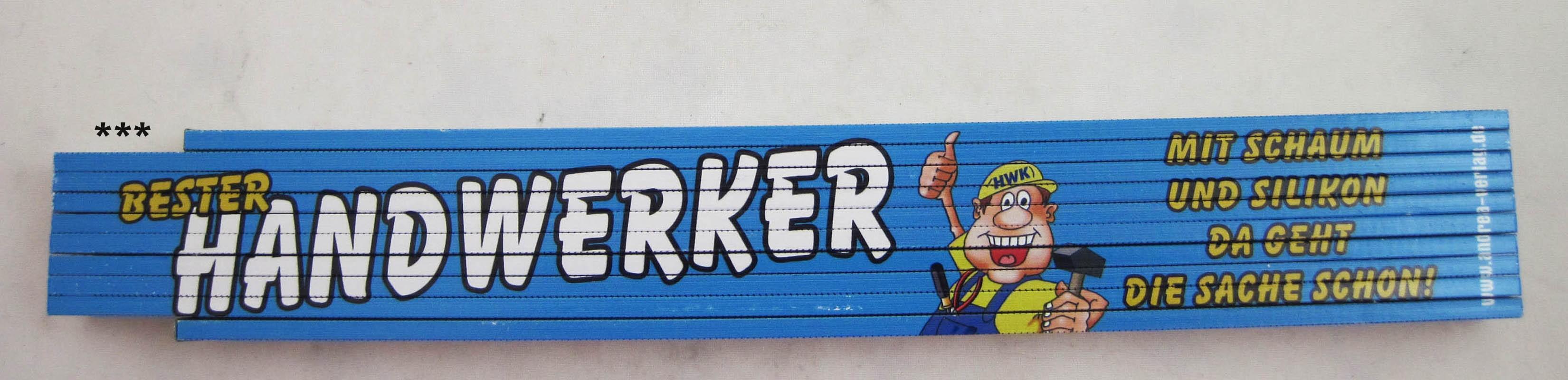 """Zollstock  """"Handwerker""""  2 m lang, mehrfarbig"""