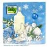 Weihnachts-Lunch-Servietten Kerze&Engel blau, 20 Stück 33 x 33 cm