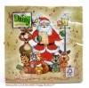Weihnachts-Lunch-Servietten singender Weihnachtsmann, 20 Stück 33 x 33 cm