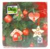 Weihnachts-Lunch-Servietten Tanne mit Behang, 20 Stück 33 x 33 cm
