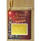 Glückwunschbuch Frohe Weihnachten 14,7 x 1 x 15,4 cm