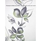 Vliestapete mit Blätterranke 13530-30 - Weiss-Grau-Grün 10,05 x 0,53 = 5,32 m²