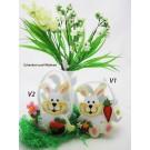 Filz-Tasche Hase weiß sortiert ca. 12 x 6 x 9 cm, V1 oder V2