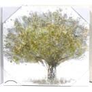 Gemälde Baum handgemalt naturfarbig-gold-silber ca. 50 x 50 cm(BxH)