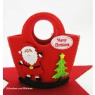 Filz-Tasche Weihnachtsmann bunt, ca.15 x 6,5 x 15 cm
