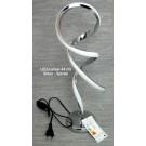 LED Lampe Silber Spirale 44 cm