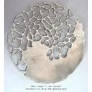 Moderne Deko - Schale Alu-Koralle silber glänzend Ø ca. 28 cm