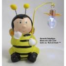 Keramik Dekofigur Biene mit LED Licht, ca. 16,5 cm